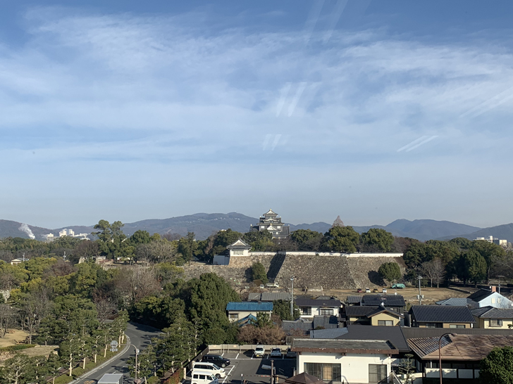 県庁からの岡山城